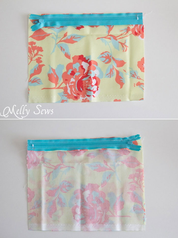 Step 1 - How to Sew a Zipper Pouch - 15 minute sewing project - Melly Sews