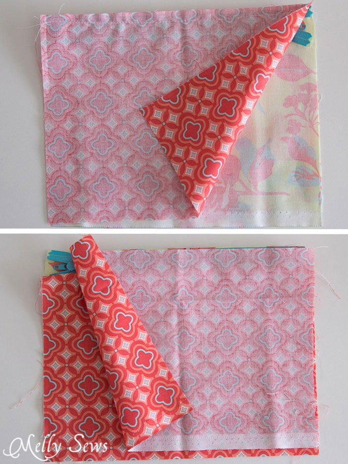 Step 2 - How to Sew a Zipper Pouch - 15 minute sewing project - Melly Sews