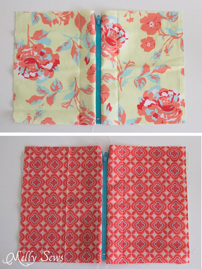 Step 3 - How to Sew a Zipper Pouch - 15 minute sewing project - Melly Sews