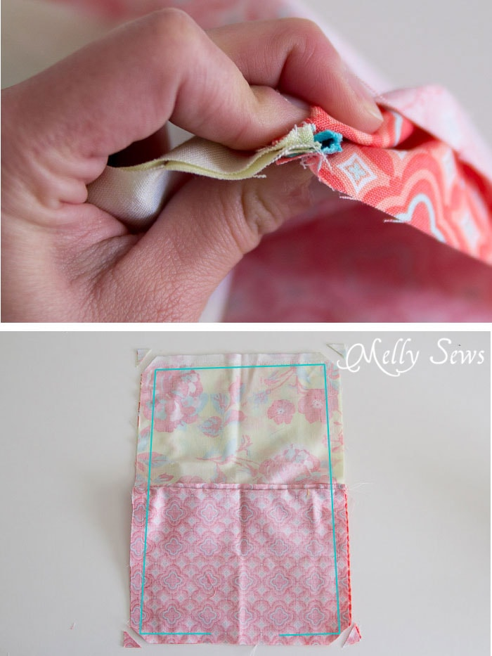 Step 5 - How to Sew a Zipper Pouch - 15 minute sewing project - Melly Sews