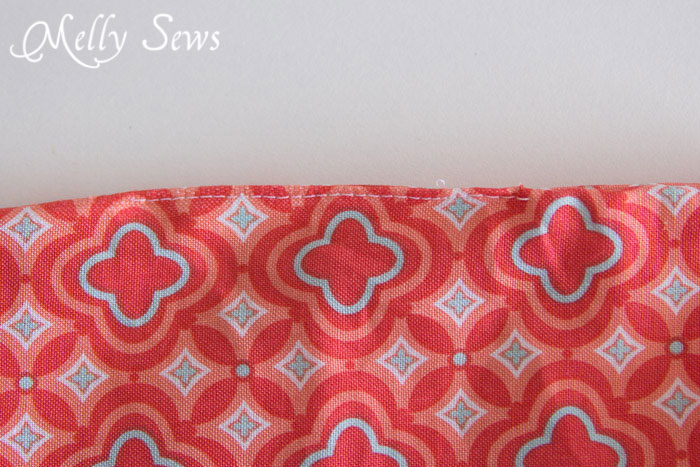 step 7 - How to Sew a Zipper Pouch - 15 minute sewing project - Melly Sews