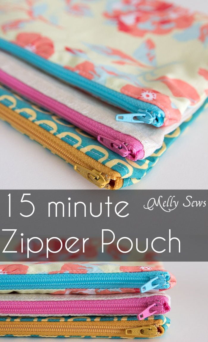 How To Sew A Zipper Pouch Tutorial Melly Sews
