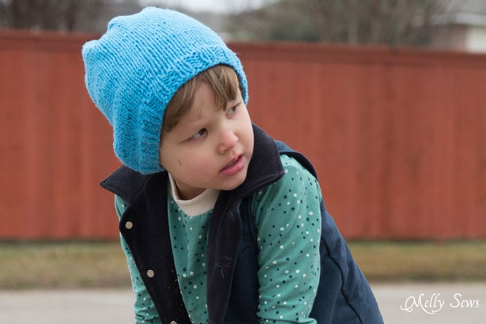 Slouchy Knit Beanie Pattern In Any Size Melly Sews