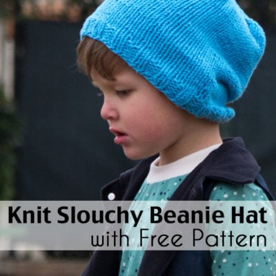Slouchy Knit Beanie Pattern in Any Size