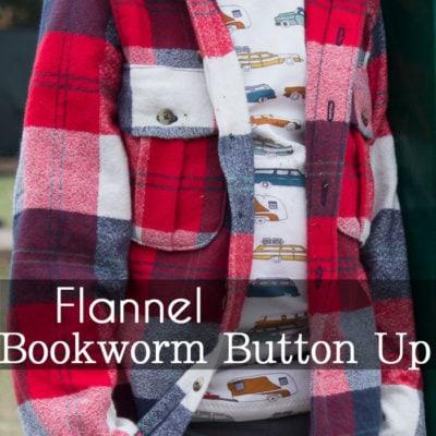 Flannel Bookworm Button Up