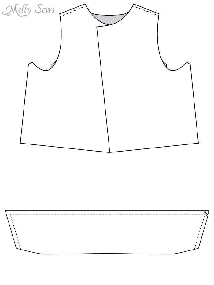 Step 1 - Sew a boys vest with the FREE Punk Vest pattern - Melly Sews