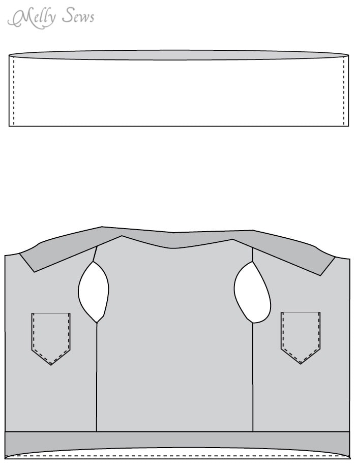 Step 4 - Sew a boys vest with the FREE Punk Vest pattern - Melly Sews