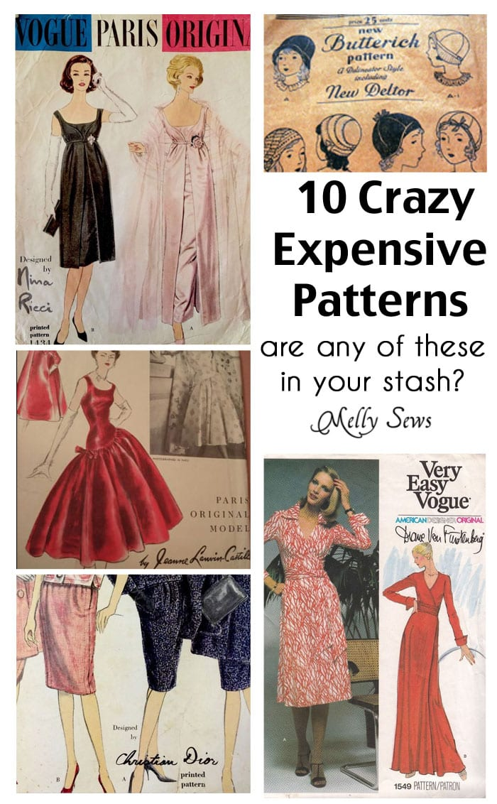 That Pattern Cost How Much? Most Expensive Sewing Patterns - Melly Sews