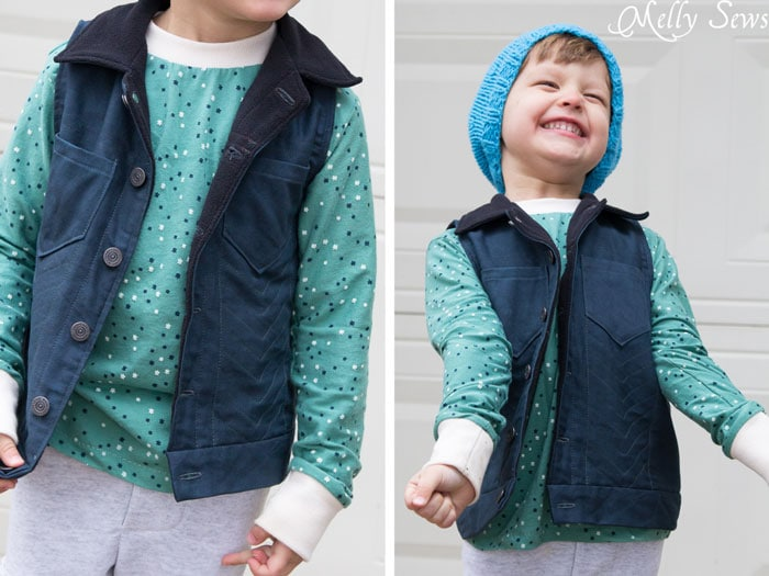 Fashion for boys - Sew a boys vest with the FREE Punk Vest pattern - Melly Sews