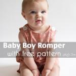 Baby Boy Romper Pattern – Sew Jon Jons