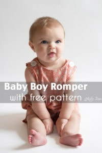 Baby boy romper pattern - FREE - with a VIDEO tutorial as well as pictures - Melly Sews