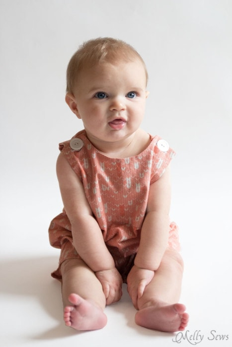 Must Make - Baby boy romper pattern - FREE - with a VIDEO tutorial as well as pictures - Melly Sews