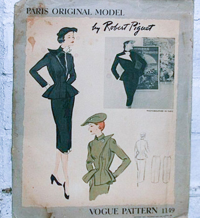 Robert Piguet Sewing Pattern - Most Expensive Sewing Patterns - Melly Sews
