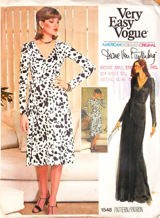 Diane Von Furstenberg Vogue 1548 Wrap Dress Sewing Pattern - Most Expensive Sewing Patterns - Melly Sews
