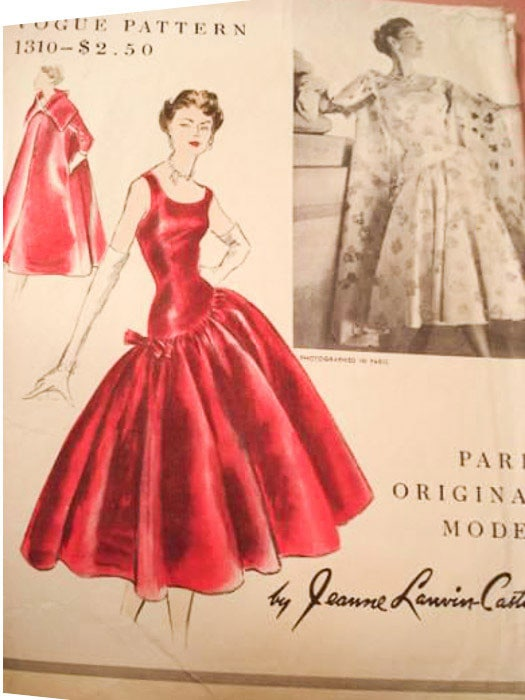 Jeanne Lanvin Castillo dress pattern Vogue 1310 - Most Expensive Sewing Patterns - Melly Sews