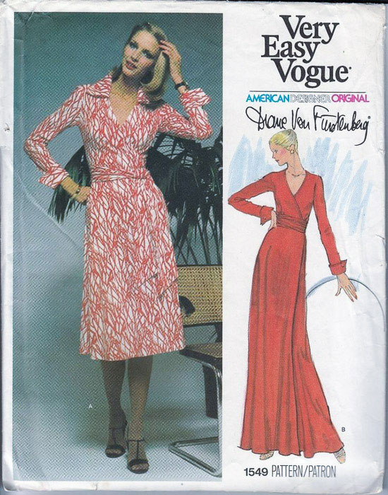 Vogue 1549 Diane Von Furstenberg wrap dress sewing pattern - Most Expensive Sewing Patterns - Melly Sews