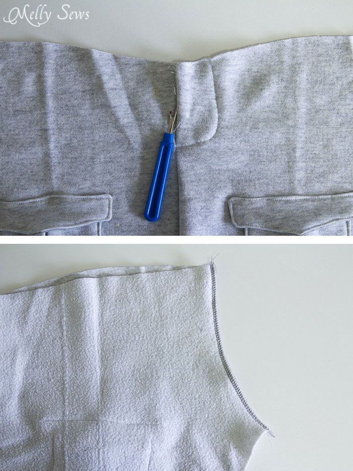 Step 4 - Sew an on trend pair of slim sweatpants for boys with this FREE sewing pattern from Melly Sews and Blank Slate Patterns