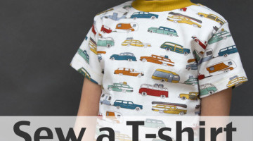 Sew t-shirt - Use this FREE pattern to sew a toddler size t-shirt - Melly Sews
