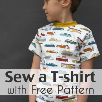 Sew a T-shirt for Boys – with Free Pattern