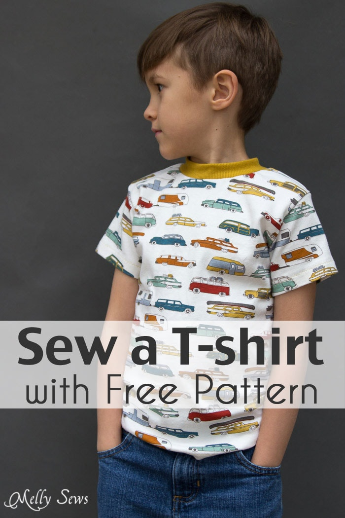a9f5d36a0 Sew a T-shirt for Boys - with Free Pattern - Melly Sews