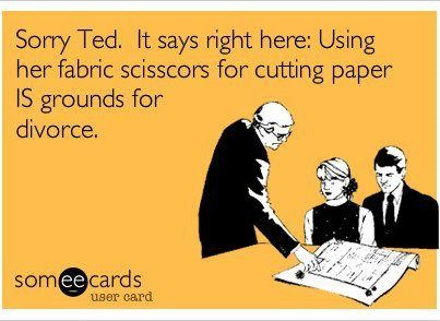 Don't use the fabric scissors