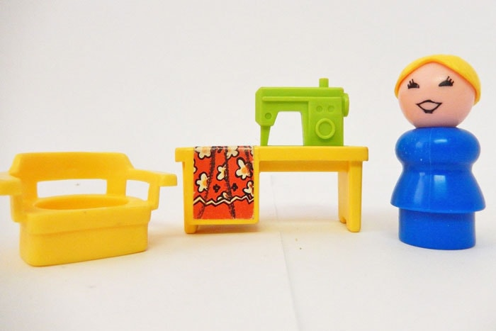 Fisher Price Little People sewing set, via ebay