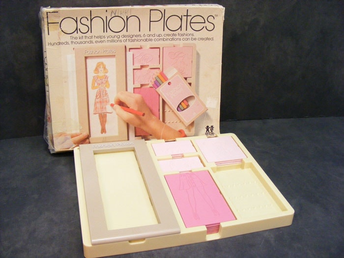 Vintage Fashion Plates by Tomy