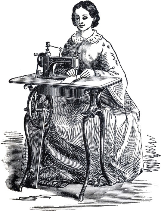Old sewing machine image