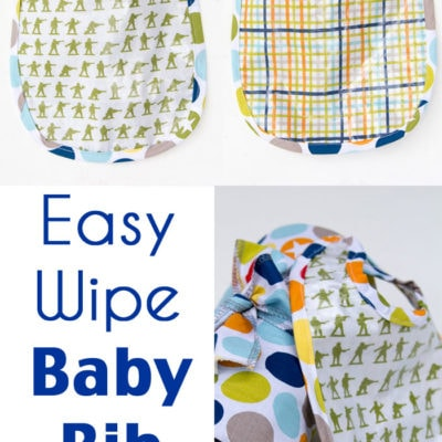 Easy Wipe Bib Tutorial – Sew a Bib with this FREE Pattern