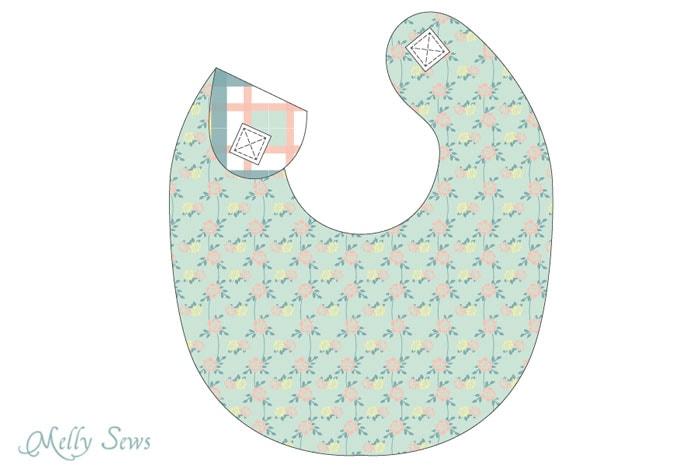 Sew A Drool Bib Free Baby Bib Pattern Melly Sews