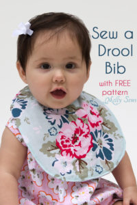 Sew a Drool Bib with a FREE baby bib pattern - Melly Sews