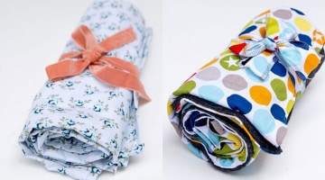 EASY Tutorials! How To: Sew Baby Blanket - 2 EASY baby blanket sewing tutorials, perfect for baby gifts and baby shower gifts - Melly Sews