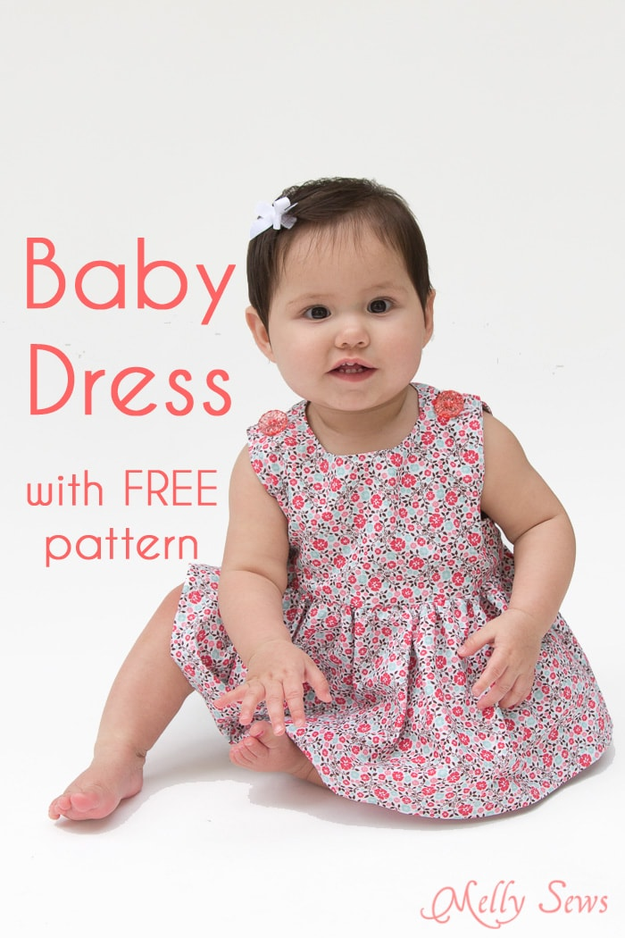 Sew a Baby Dress with a Free Pattern - Melly Sews