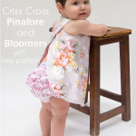 Criss Cross Pinafore Dress with Bloomers - FREE Sewing pattern sizes 0-3m - Melly Sews
