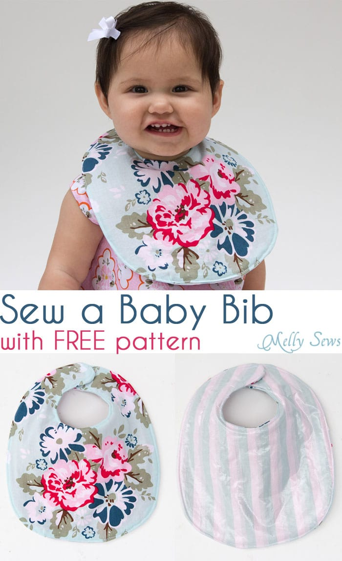 Keep your baby dry - Sew a Drool Bib with a FREE baby bib pattern - Melly Sews