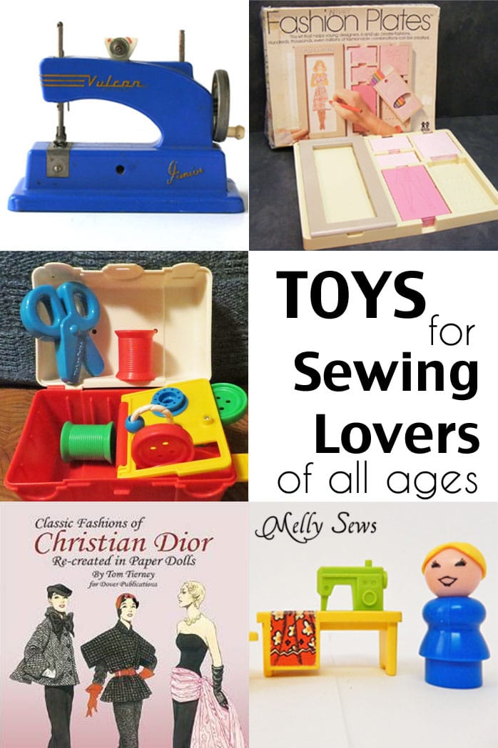 Toys for Sewing Lovers of All Ages - A fun list of vintage and new toys and books for the young at heart - Melly Sews
