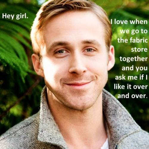 Hey Girl - I Love Fabric Shopping - Sewing Humor - Melly Sews