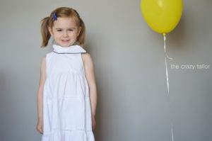 Fresh Bloom Frock by Blank Slate Patterns with skirt variation by The Crazy Tailor