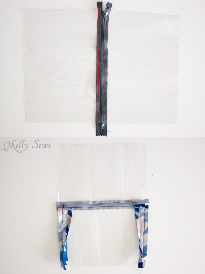 Step 1 - Sew a Daddy Diaper Clutch - Changing pad with essentials for Dad - Melly Sews