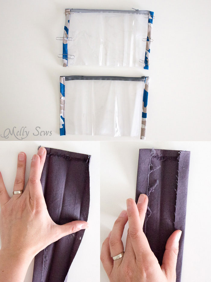 Step 2 - Sew a Daddy Diaper Clutch - Changing pad with essentials for Dad - Melly Sews