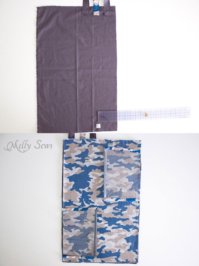 Step 4 - Sew a Daddy Diaper Clutch - Changing pad with essentials for Dad - Melly Sews