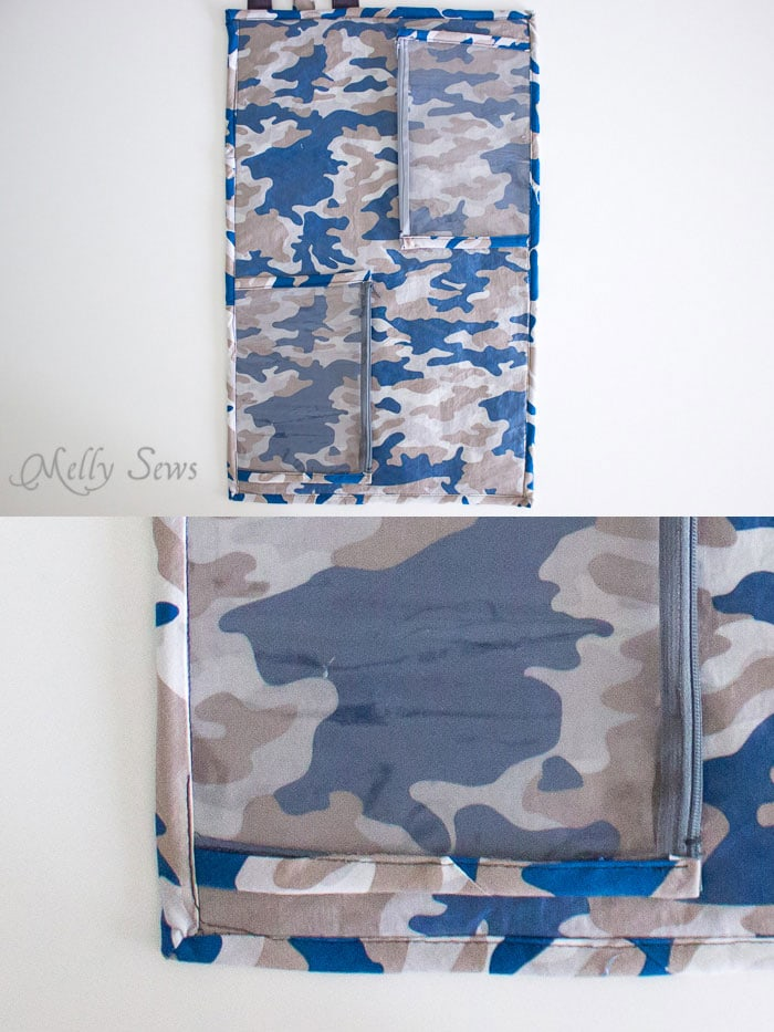 Step 5 - Sew a Daddy Diaper Clutch - Changing pad with essentials for Dad - Melly Sews