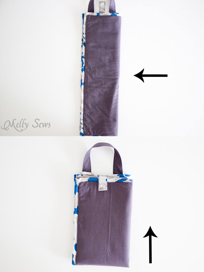 How to fold - Sew a Daddy Diaper Clutch - Changing pad with essentials for Dad - Melly Sews