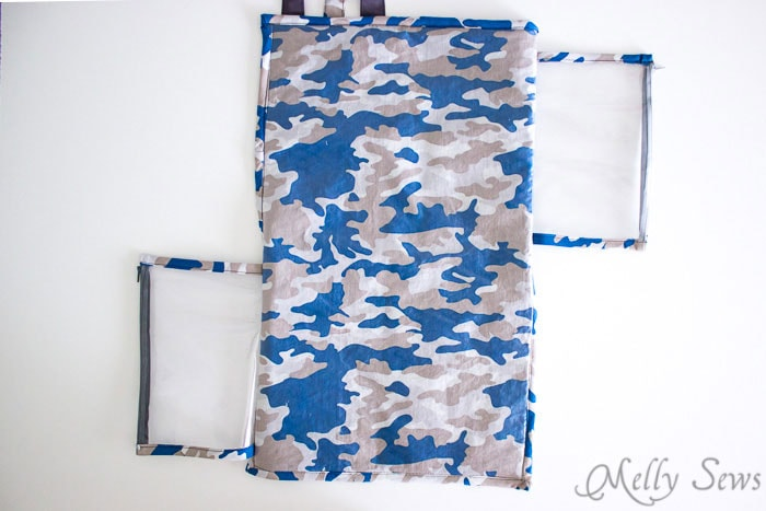 Finished - Sew a Daddy Diaper Clutch - Changing pad with essentials for Dad - Melly Sews