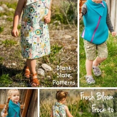 Fresh Bloom Frock with Sew a Straight Line – Blank Slate Sewing Team