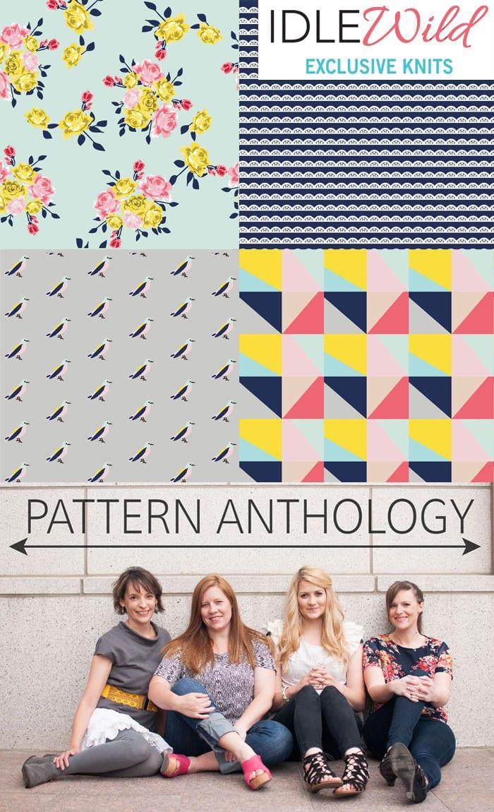 Idle Wild Fabrics - Exclusive Knits by Pattern Anthology for Riley Blake Fabrics
