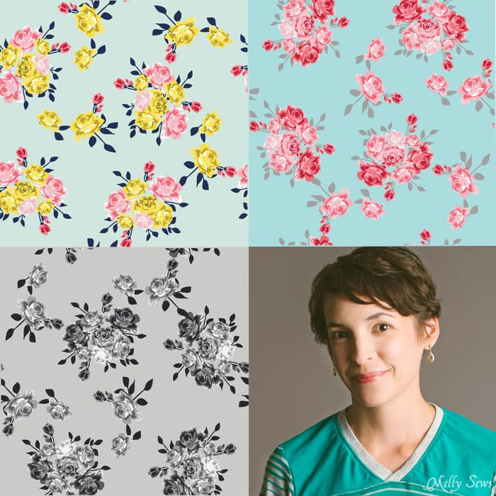 Idle Wild Floral Print - Idle Wild Fabrics - Exclusive Knits by Pattern Anthology for Riley Blake Fabrics