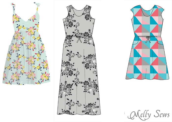 Dress possibilities - Idle Wild Fabrics - Exclusive Knits by Pattern Anthology for Riley Blake Fabrics