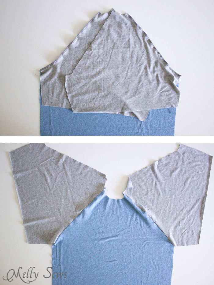 Step 1 - Mens Raglan T-shirt Pattern and Tutorial - Make a raglan tshirt with this free pattern - Melly Sews