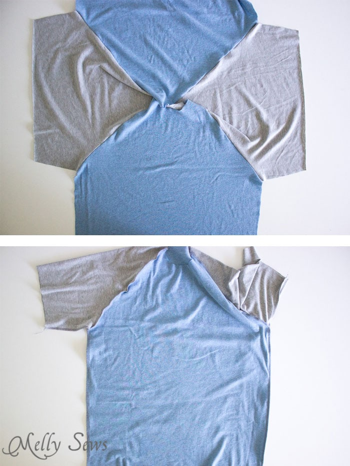 Step 2 - Mens Raglan T-shirt Pattern and Tutorial - Make a raglan tshirt with this free pattern - Melly Sews
